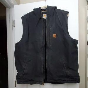 Carhartt Black Denim Hooded Vest